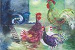 Kippenkunst in de boerenhuiskamer