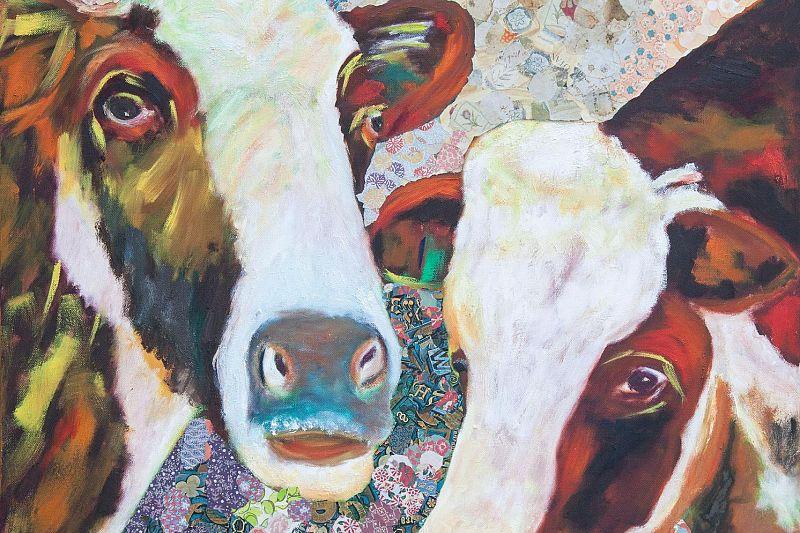 Koeienkunst in de boerenhuiskamer